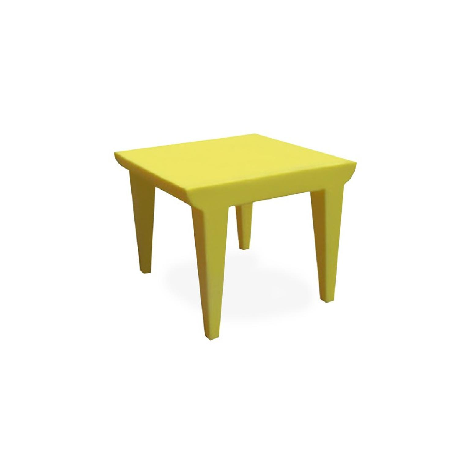 Kartell Philippe Stark Bubble Club Side Tables in Yellow - image-3