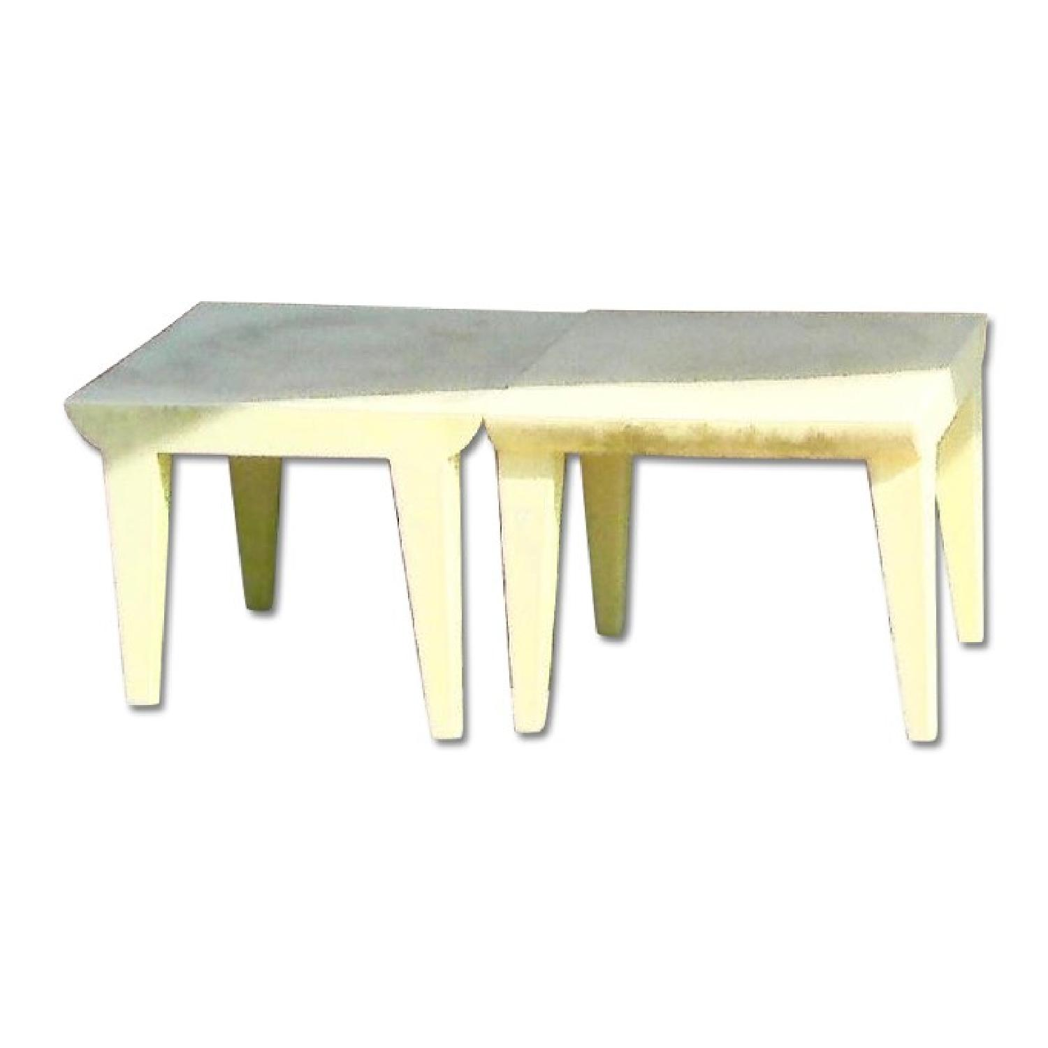 Kartell Philippe Stark Bubble Club Side Tables in Yellow - image-0
