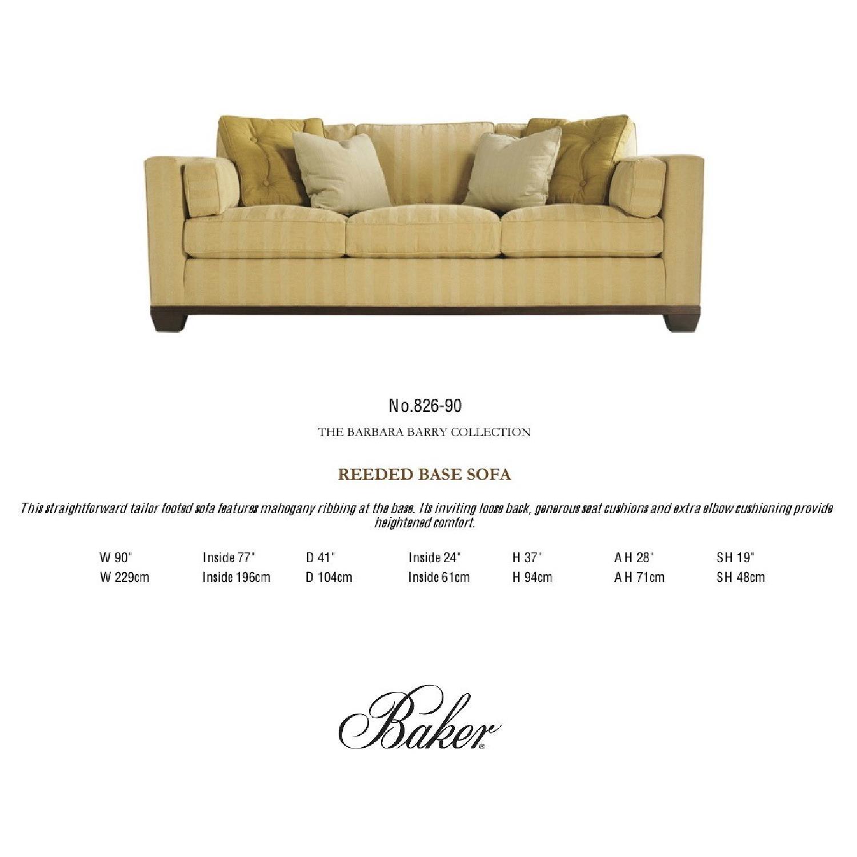 Baker Furniture Barbara Barry Reeded Base Sofa - image-1