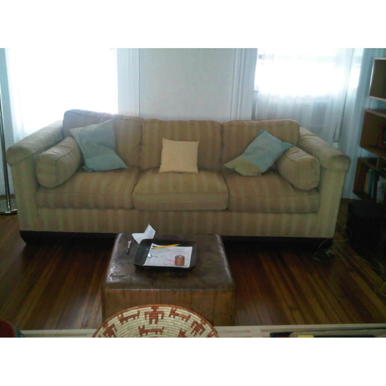 Baker Furniture Barbara Barry Reeded Base Sofa - image-2