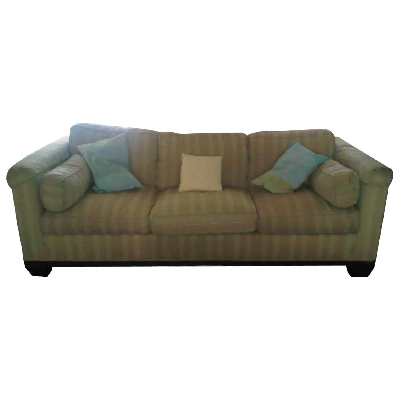 Baker Furniture Barbara Barry Reeded Base Sofa - image-0