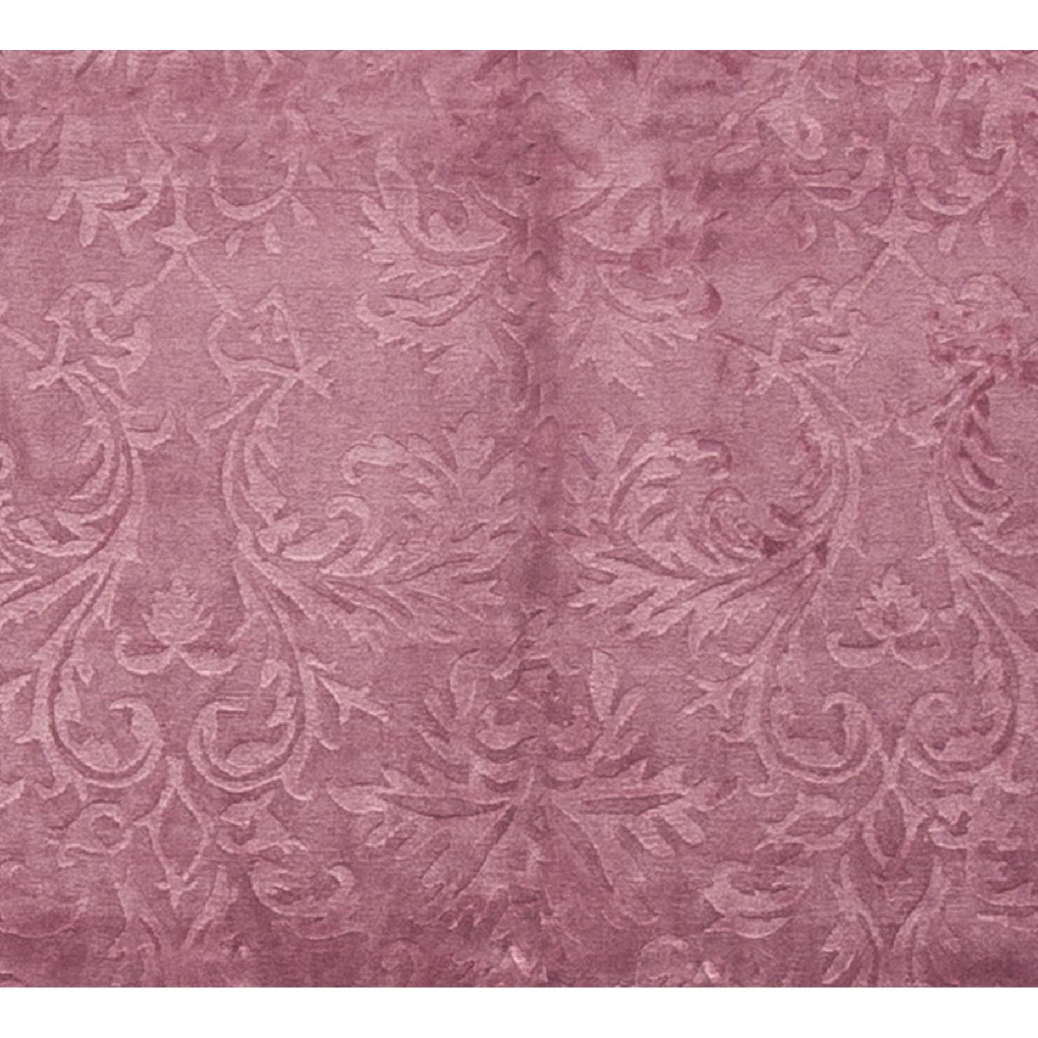 Modern Contemporary Hand Knotted Wool Rug in Plum - image-2
