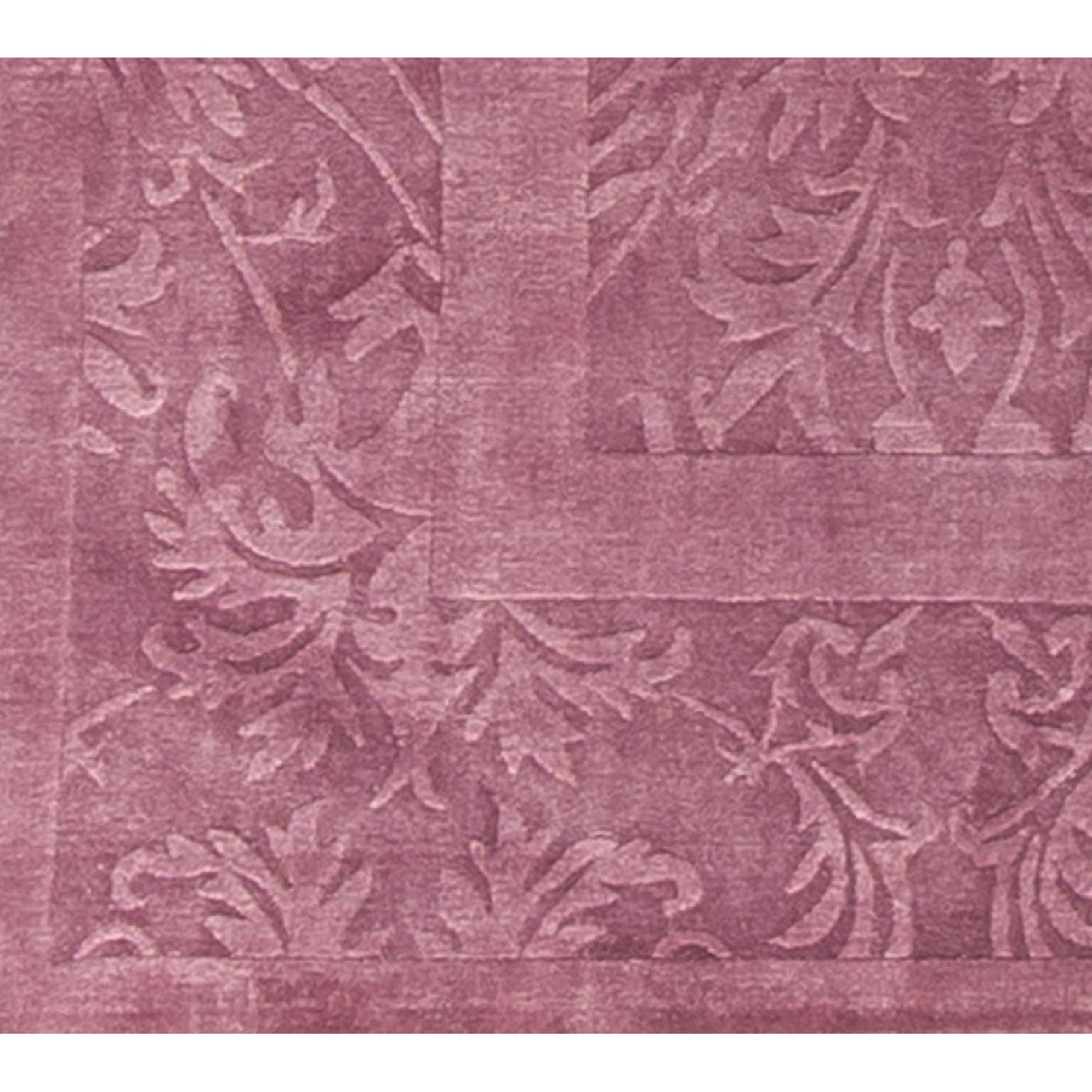 Modern Contemporary Hand Knotted Wool Rug in Plum - image-3