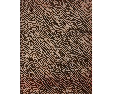 Modern Contemporary Hand Knotted Wool Rug in Red/Black