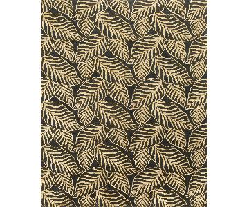 Modern Contemporary Hand Knotted Wool Rug in Black/Beige