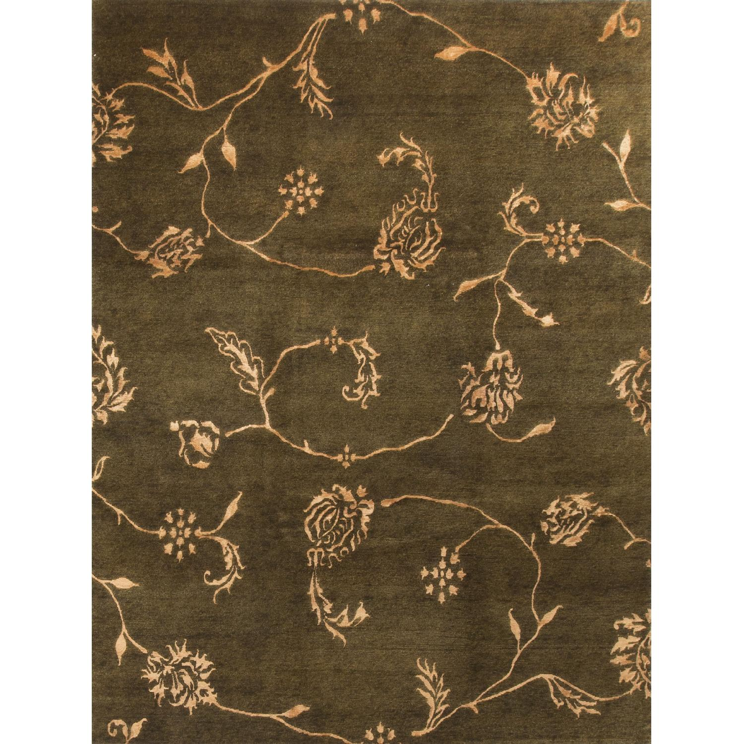 Modern Contemporary Hand Knotted Wool Rug in Beige/Brown - image-0