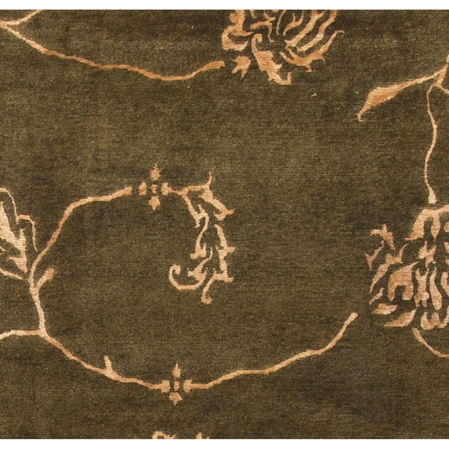 Modern Contemporary Hand Knotted Wool Rug in Beige/Brown - image-2