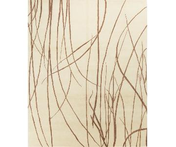 Modern Contemporary Hand Knotted Wool Rug in Beige/Brown