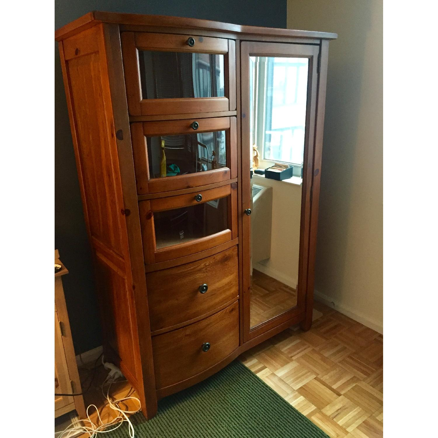 Broyhill Furniture Solid Oak Armoire - image-1