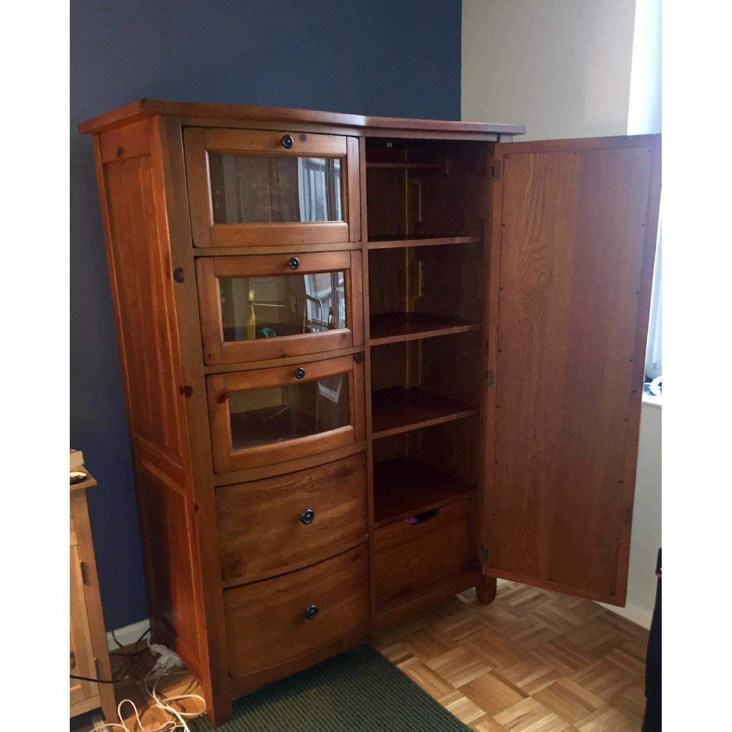 Broyhill Furniture Solid Oak Armoire - image-2