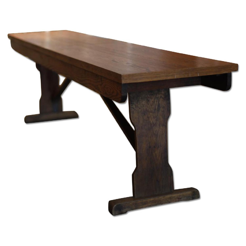 Vintage Wood Dining Table - image-0