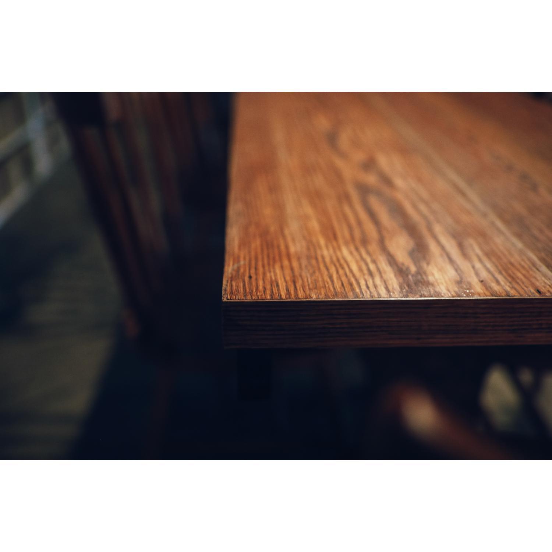Vintage Wood Dining Table - image-4