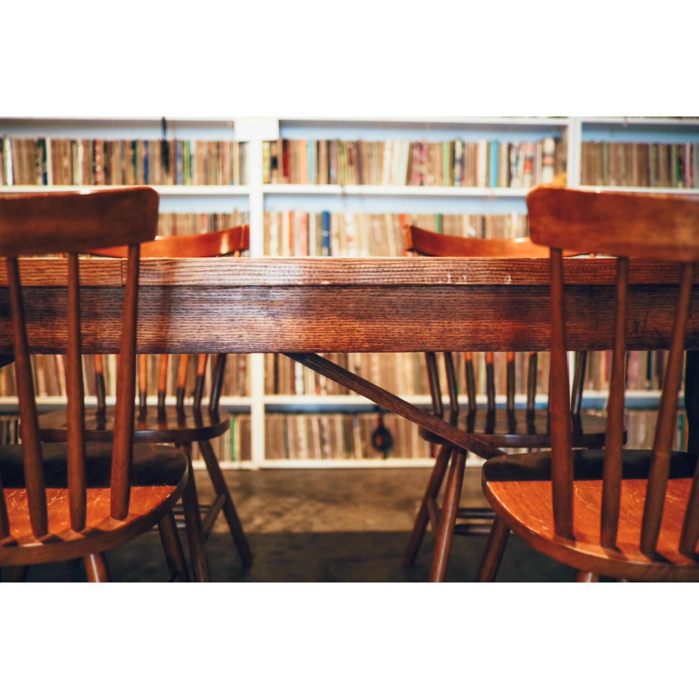 Vintage Wood Dining Table - image-6