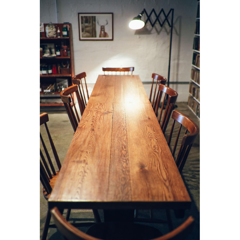 Vintage Wood Dining Table - image-7