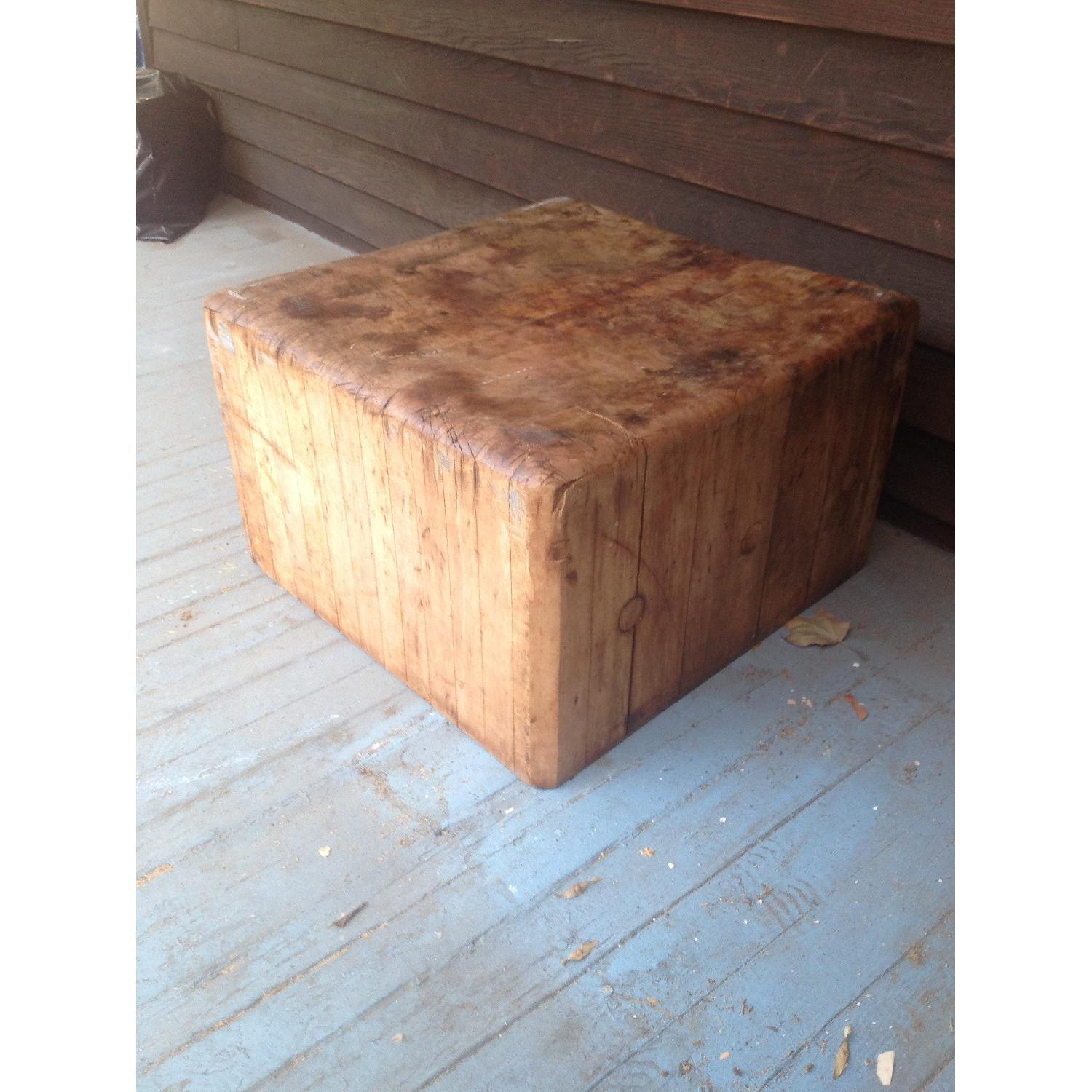 Antique Butcher Block Coffee Table - image-1