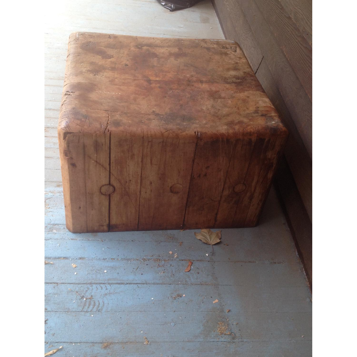 Antique Butcher Block Coffee Table - image-2