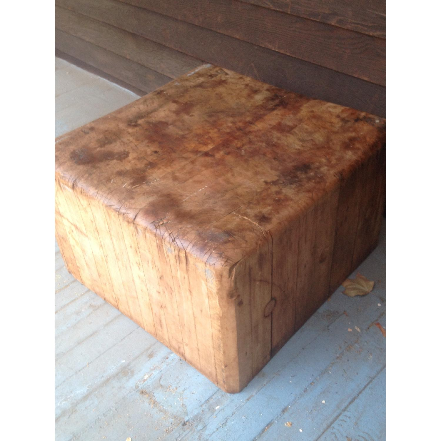 Antique Butcher Block Coffee Table - image-4