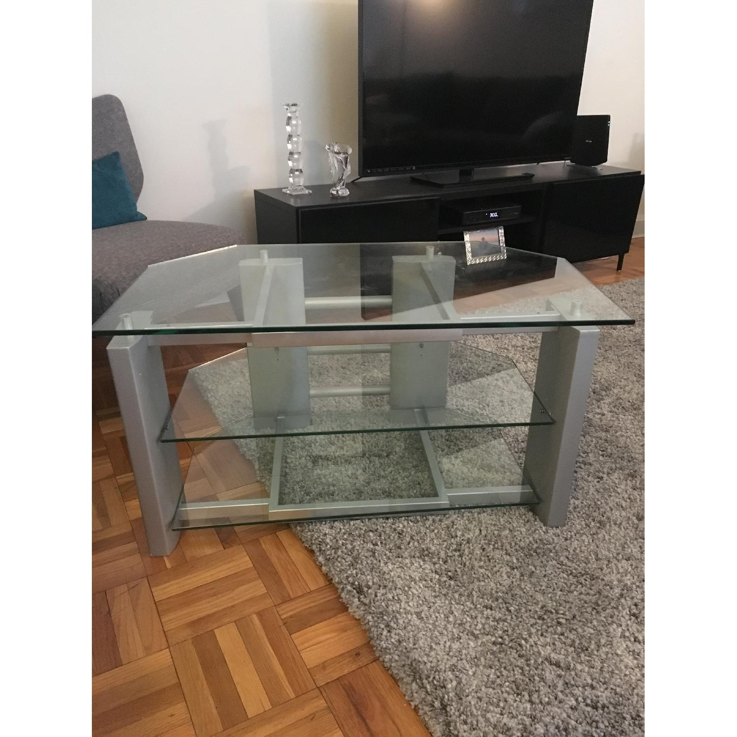 Silver & Glass TV Stand - image-1