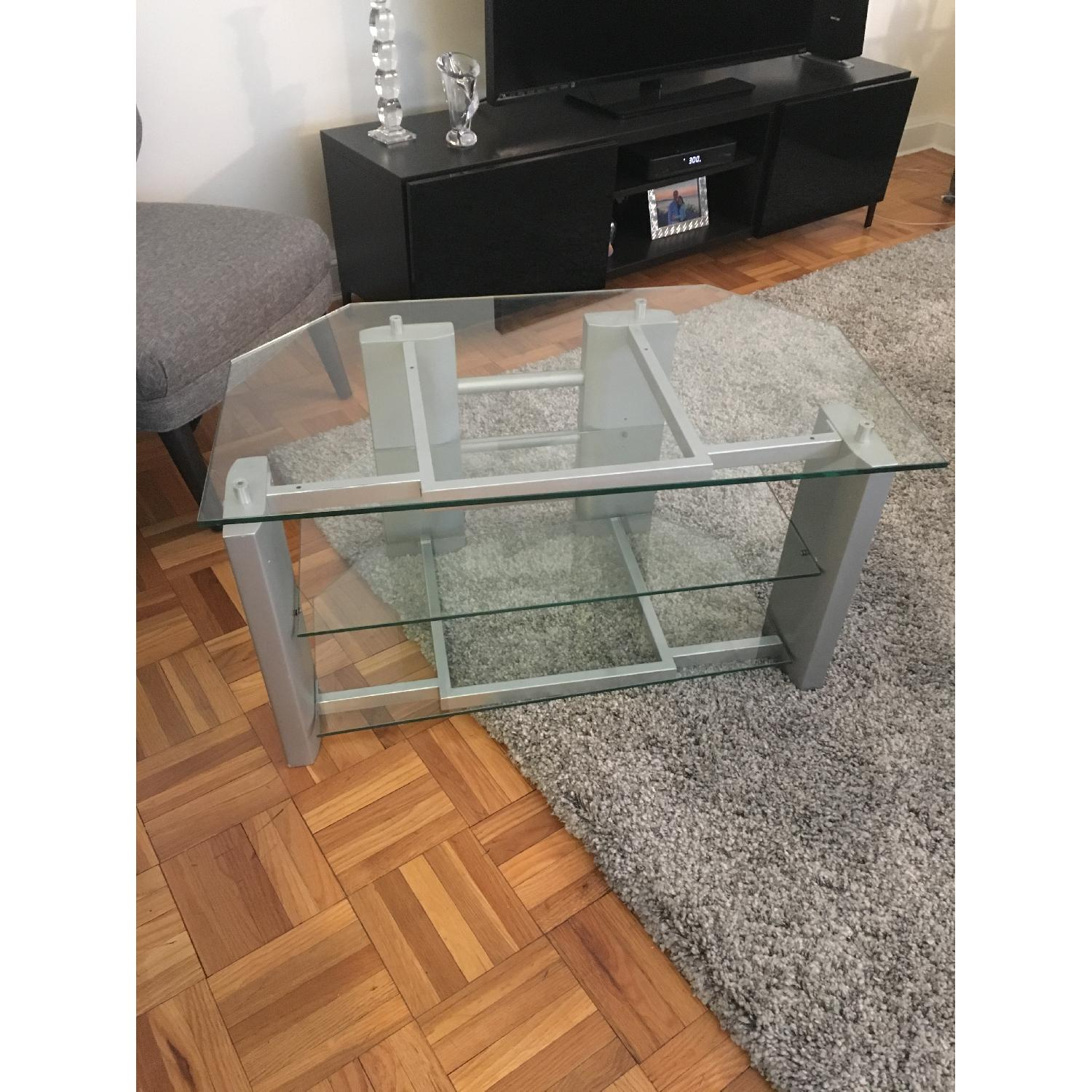 Silver & Glass TV Stand - image-2