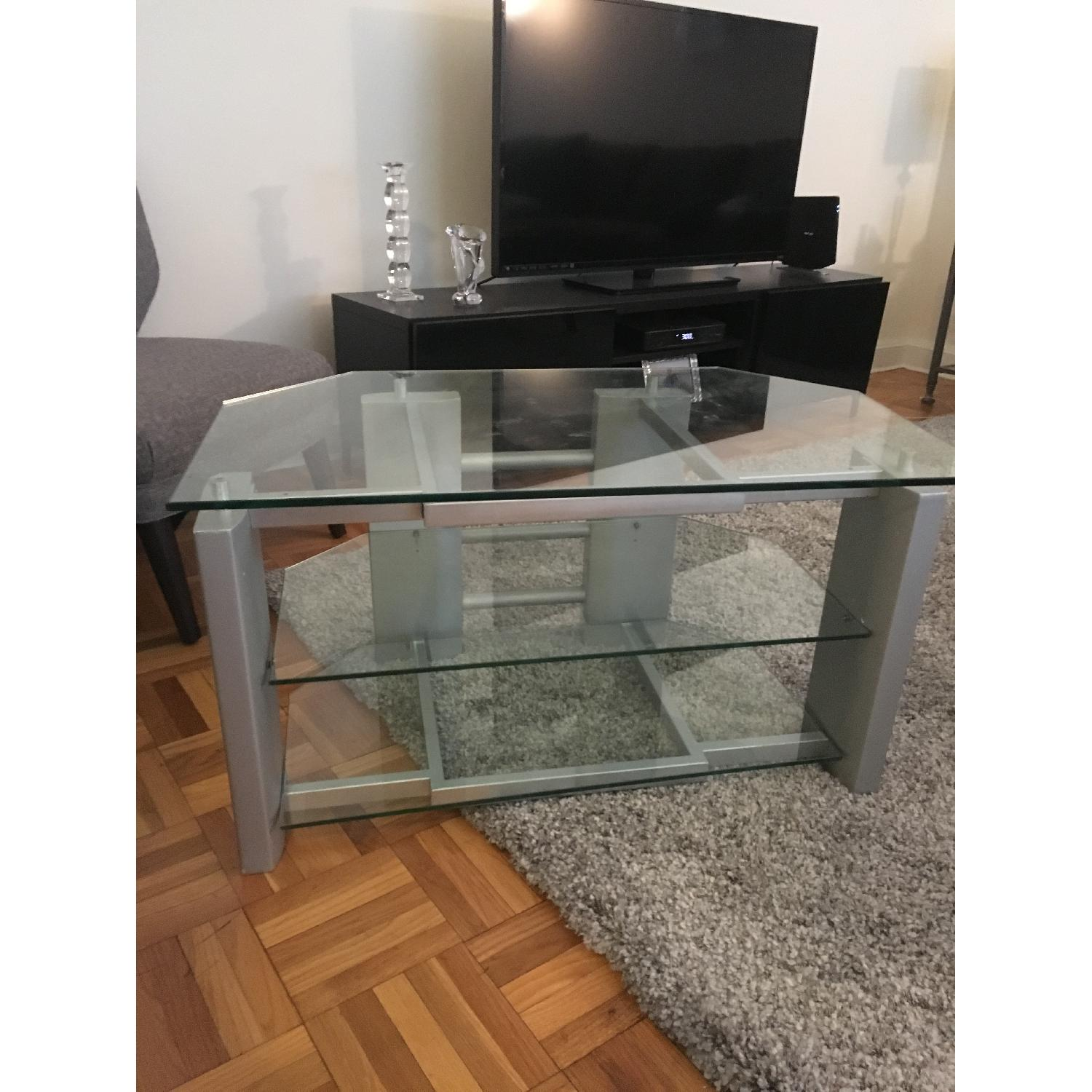 Silver & Glass TV Stand - image-3