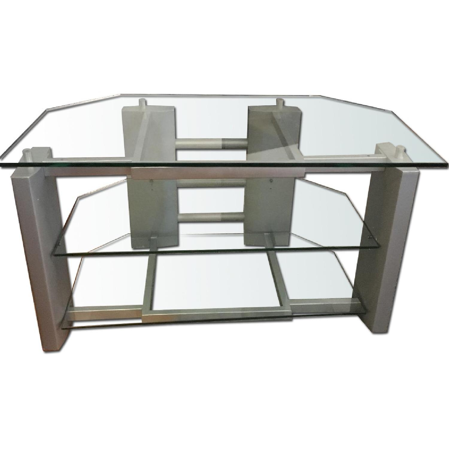 Silver & Glass TV Stand - image-0