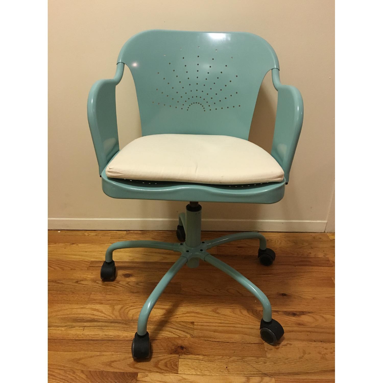 Ikea Roberget Blue Office Chair w/ Wheels - image-1