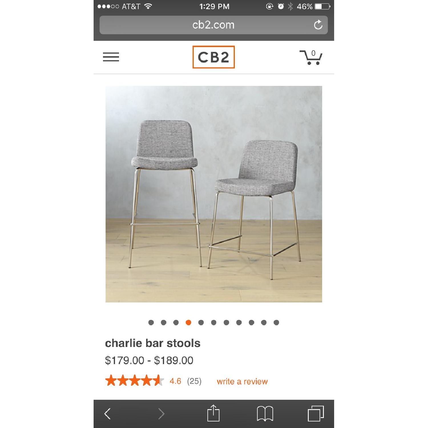 CB2 High Top Chairs - image-5