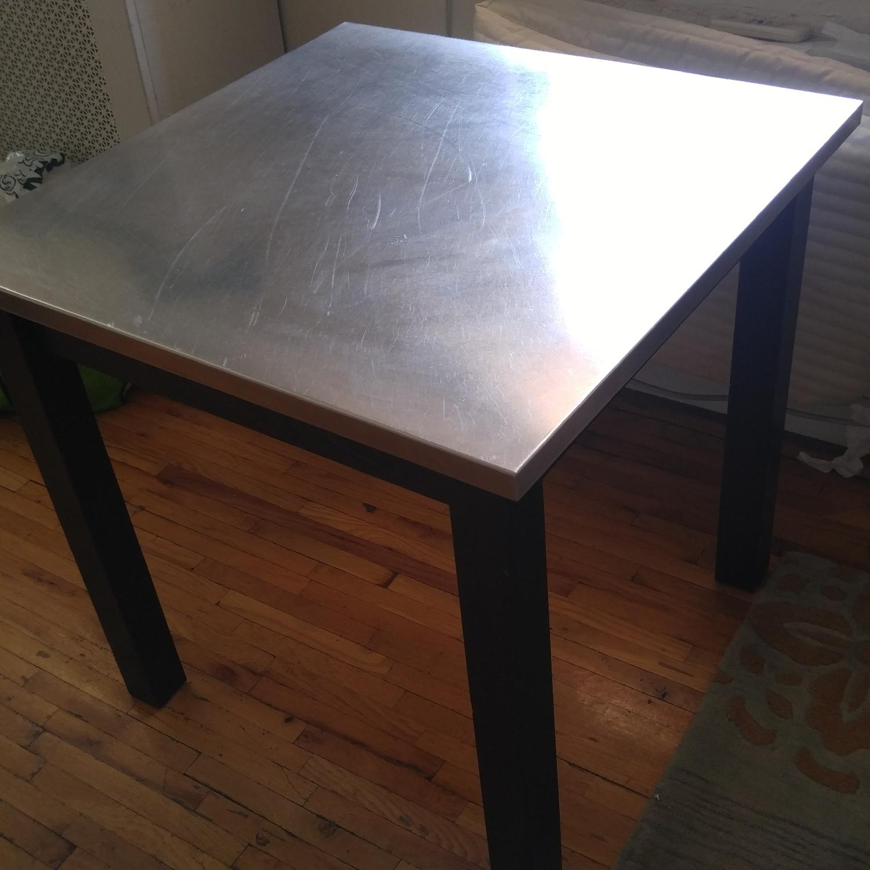 Custom Made Dining Table w/ Metal Top - image-1