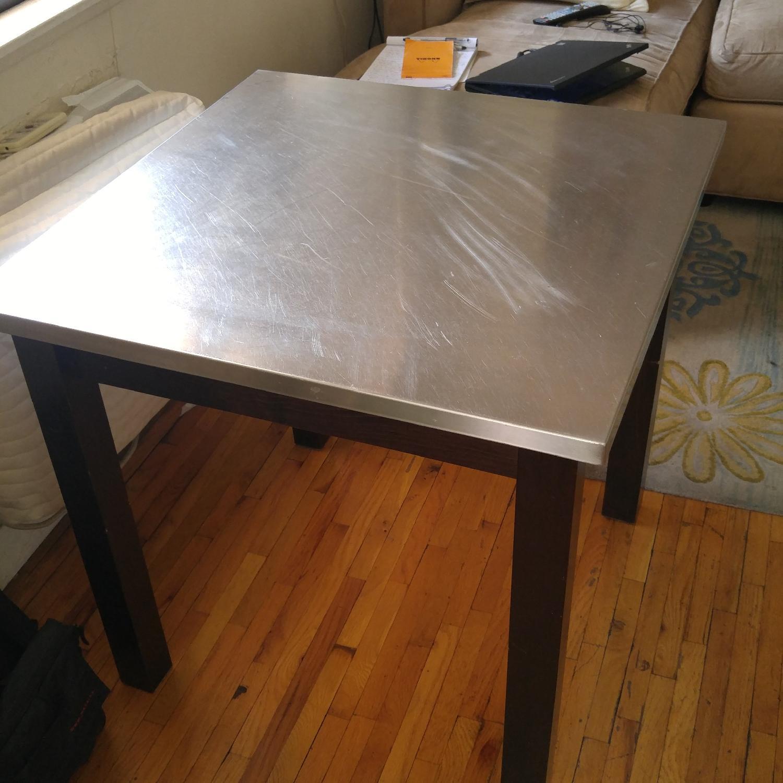 Custom Made Dining Table w/ Metal Top - image-2