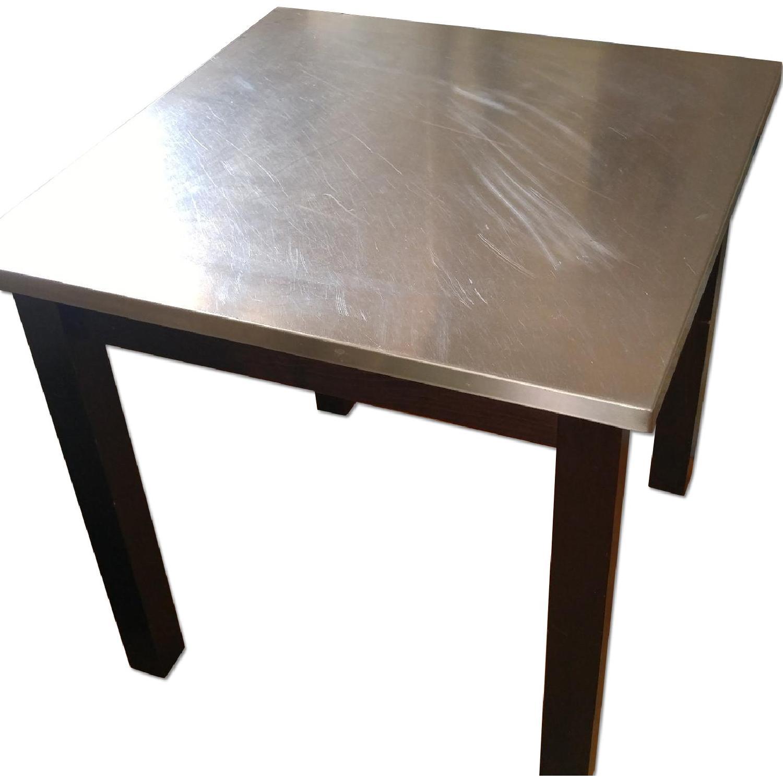 Custom Made Dining Table w/ Metal Top - image-0