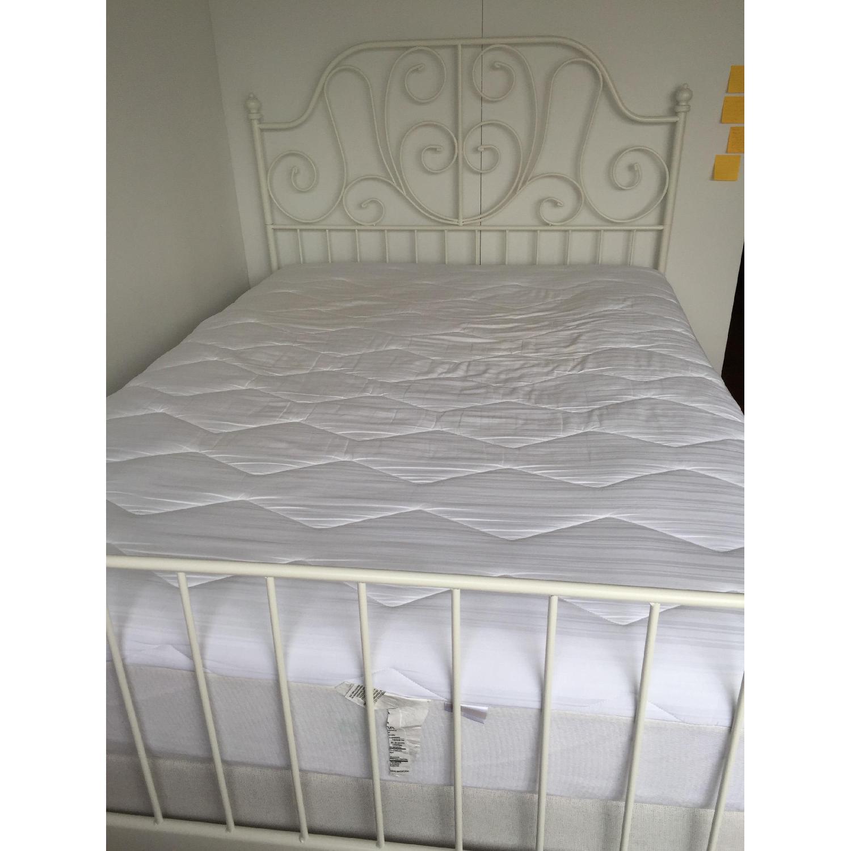 Ikea Leirvik White Full Size Iron Metal Country Style Bed Frame - image-7