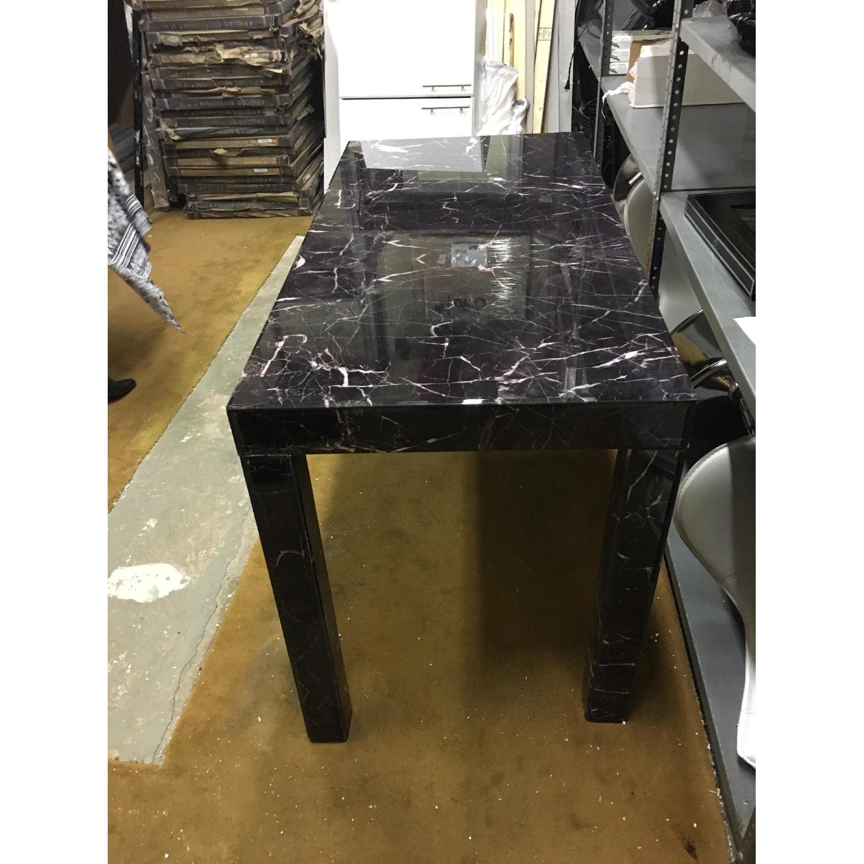 West Elm Parsons Black Marble Desk - image-2