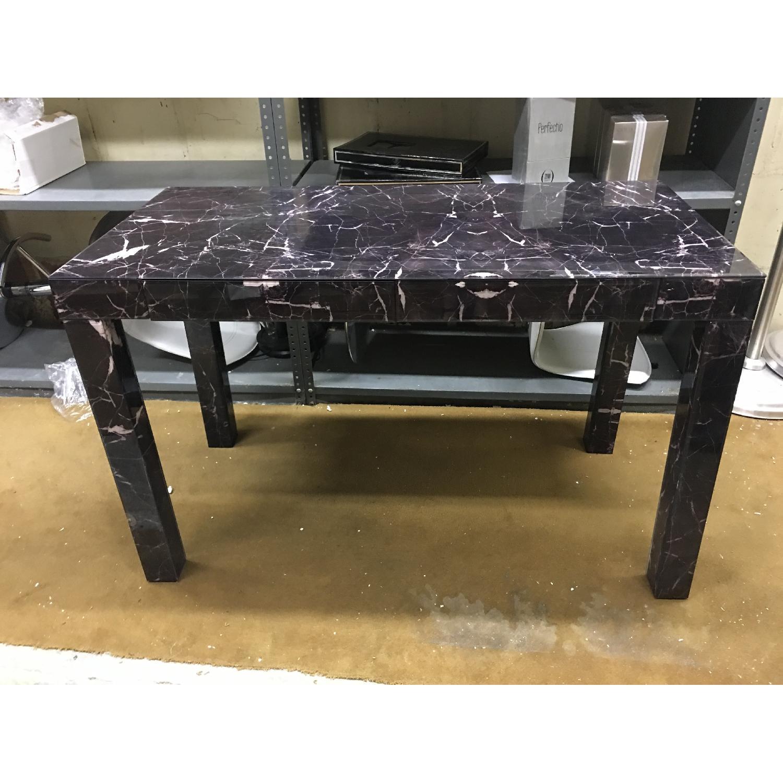 West Elm Parsons Black Marble Desk - image-3