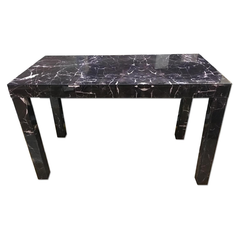 West Elm Parsons Black Marble Desk - image-0