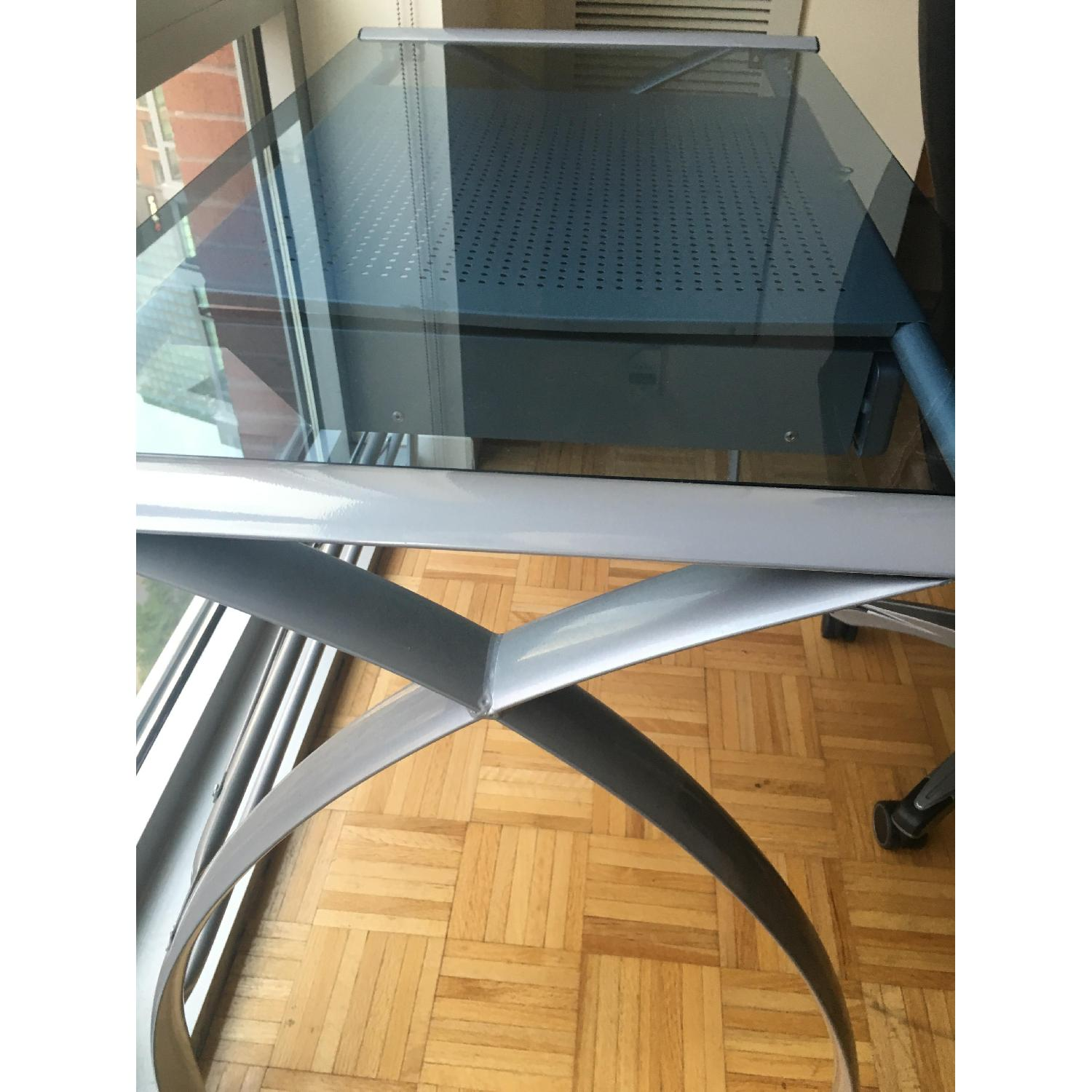 OfficeMax Glass Desk - image-1