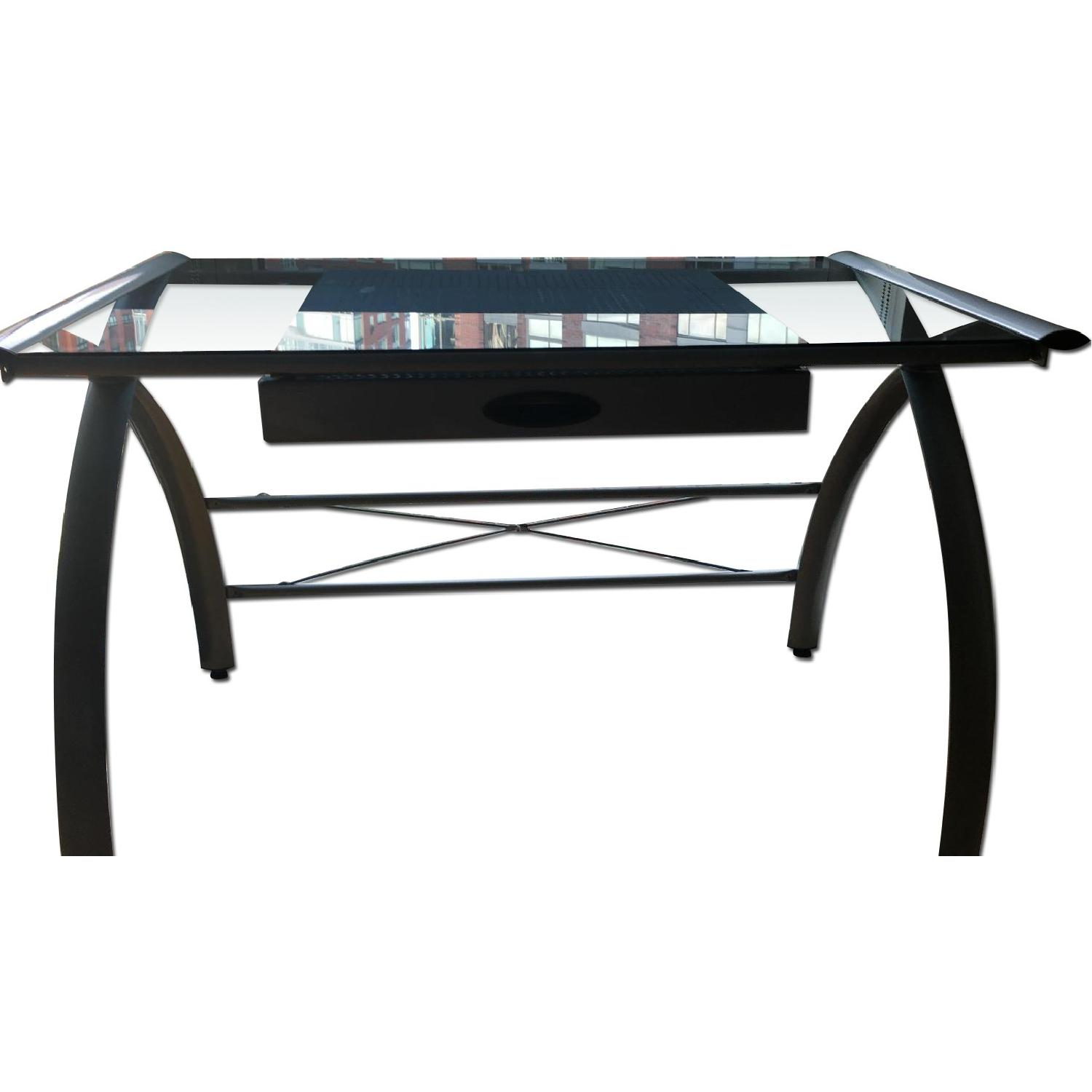 OfficeMax Glass Desk - image-0