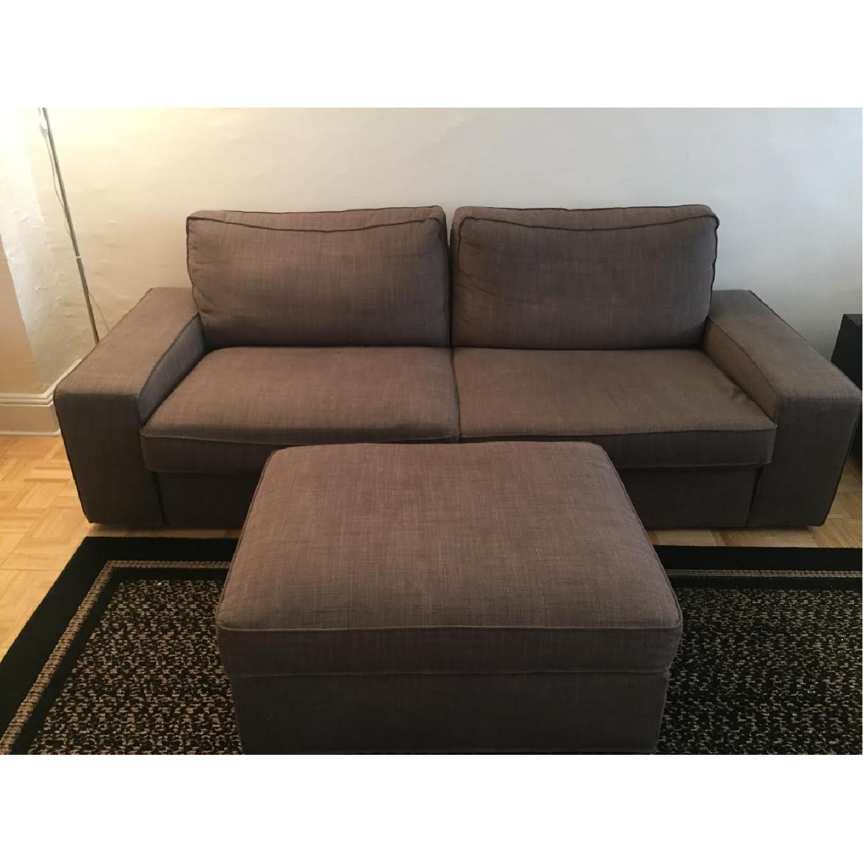 Ikea Kivik Sofa + Footstool w/ Storage - image-1