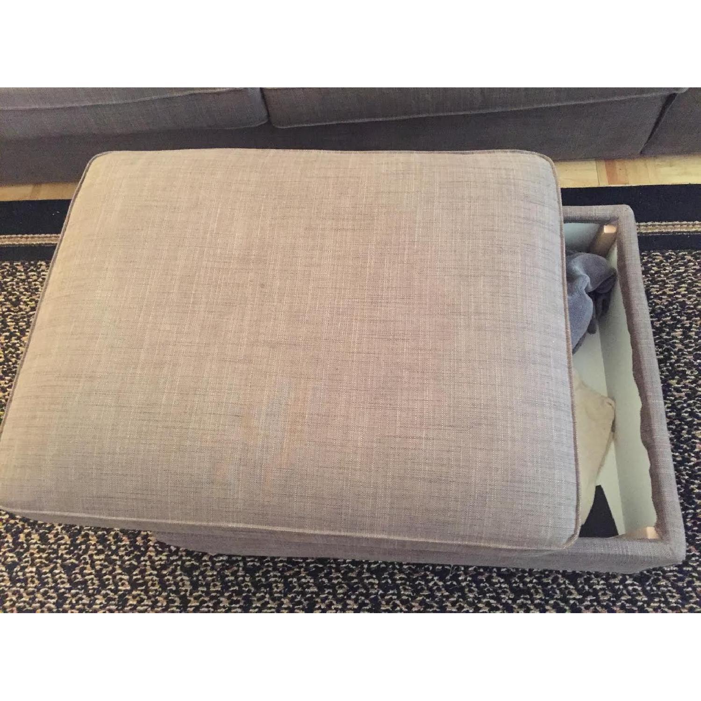 Ikea Kivik Sofa + Footstool w/ Storage - image-2
