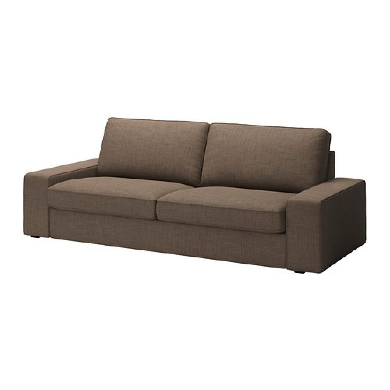 Ikea Kivik Sofa + Footstool w/ Storage - image-3