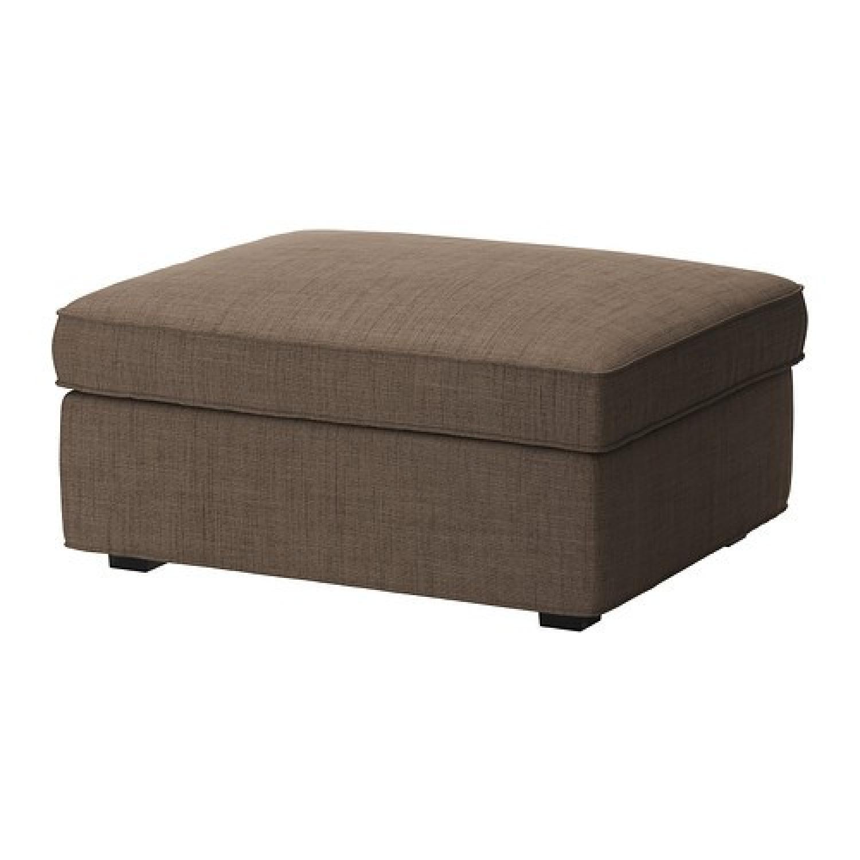 Ikea Kivik Sofa + Footstool w/ Storage - image-4