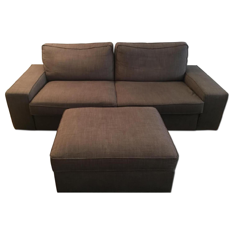 Ikea Kivik Sofa + Footstool w/ Storage - image-0