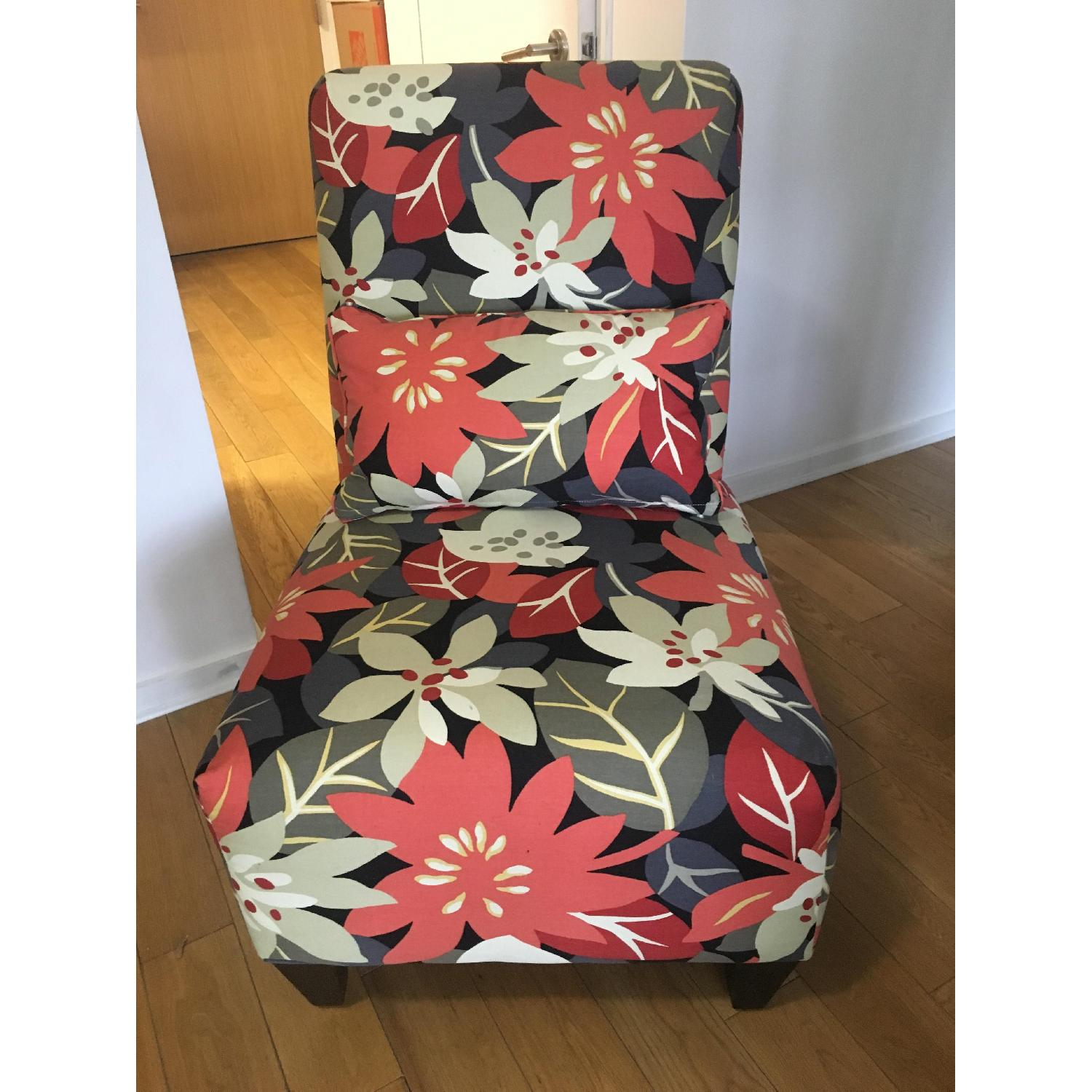 Floral Accent Chair - image-1