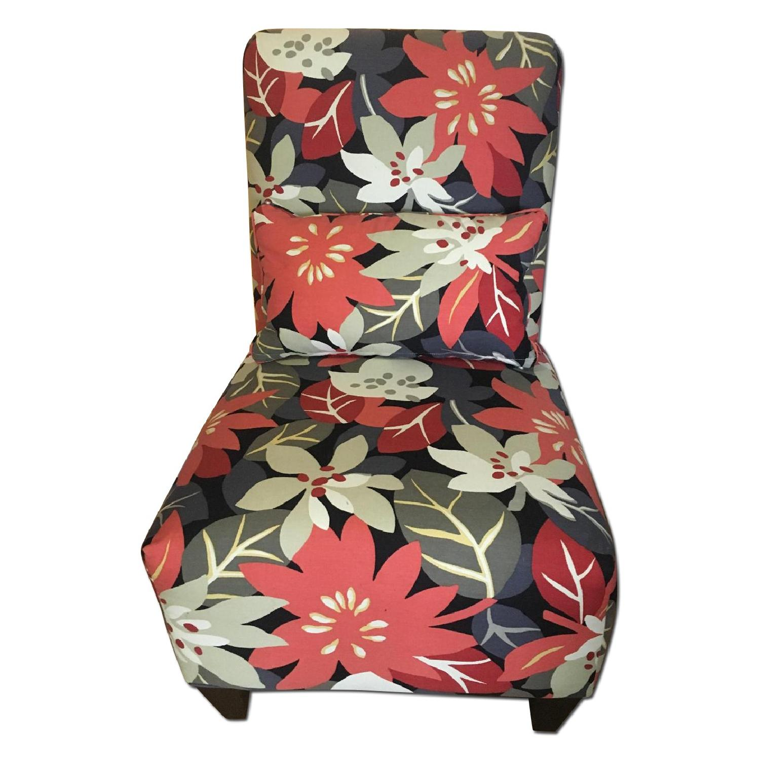 Floral Accent Chair - image-0