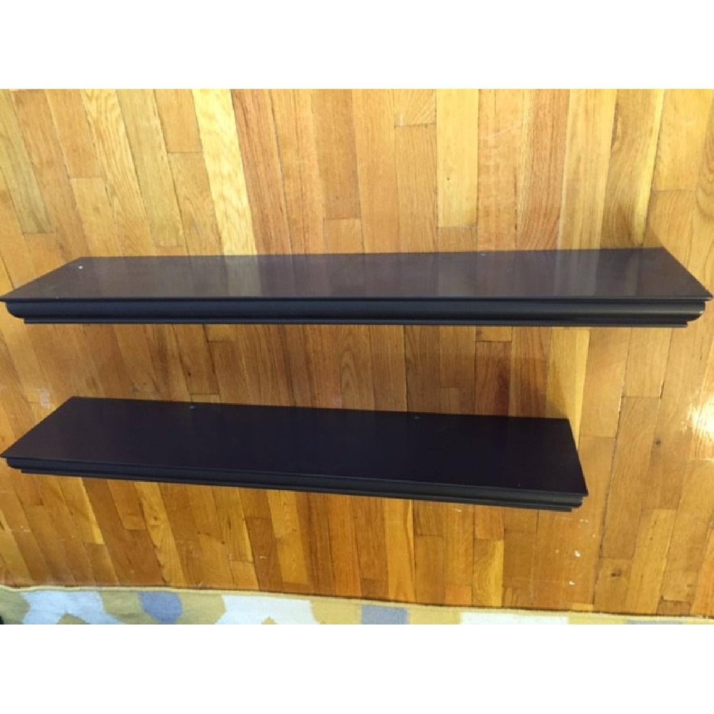Dark Brown Floating Shelves - image-1