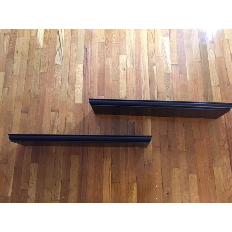 Dark Brown Floating Shelves - image-3