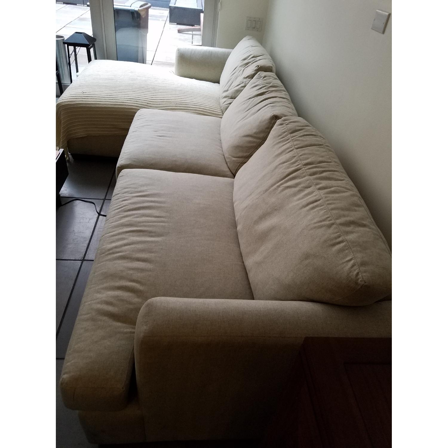 Jennifer Convertibles Sectional Sofa w/ Chaise - image-2