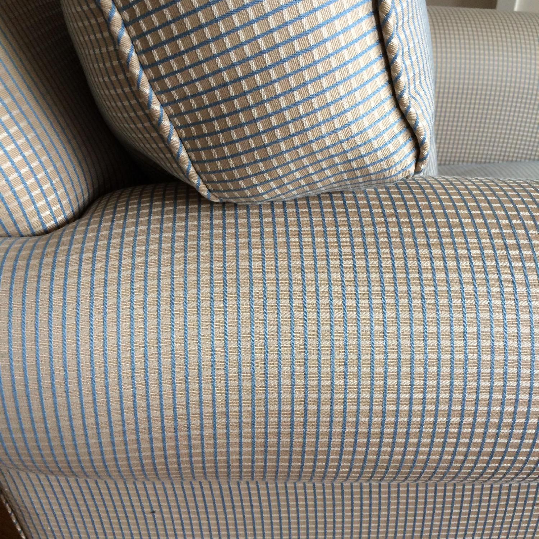 Light Blue & Tan Plaid Pattern Armchair - image-5