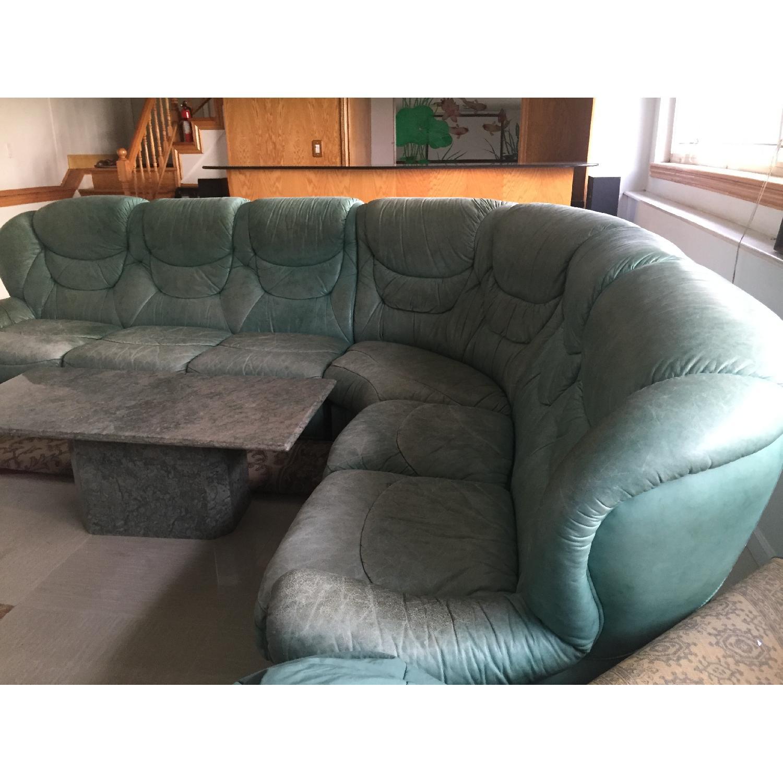 Green Sectional Sofa - image-1
