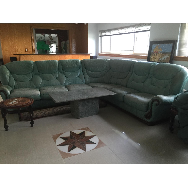Green Sectional Sofa - image-2