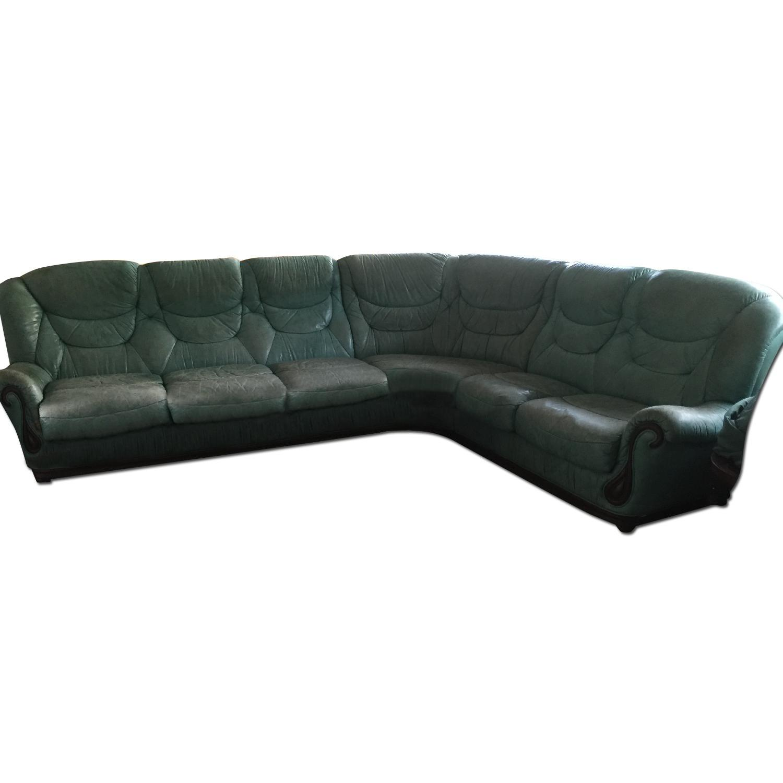 Green Sectional Sofa - image-0